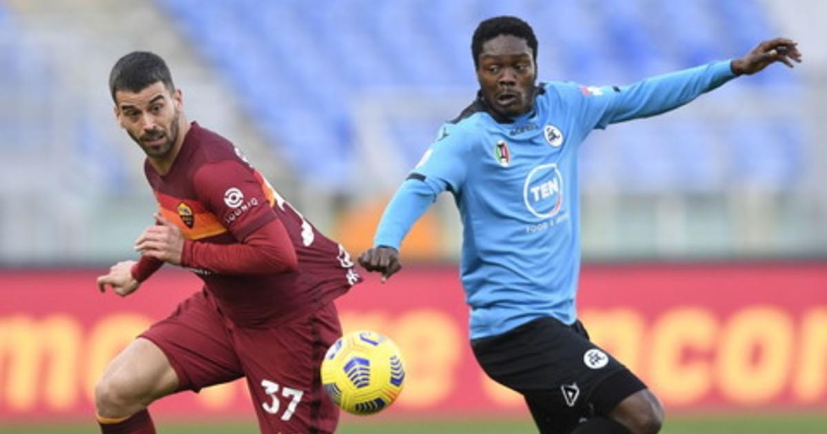 Roma Spezia 4 3 decide Pellegrini Fonseca torna a sorridere
