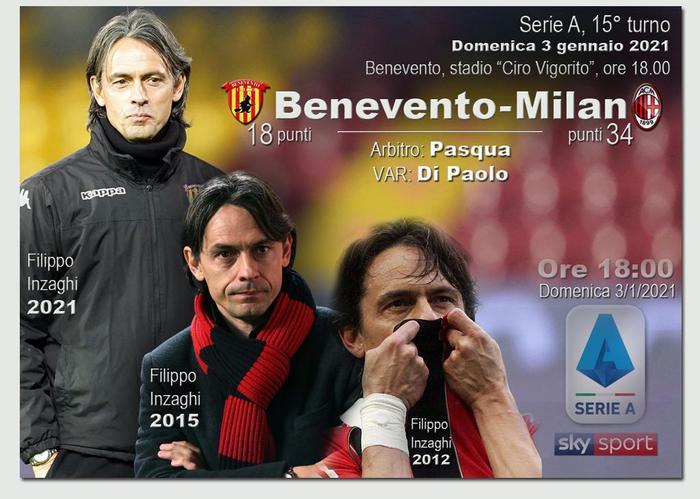 Serie A Benevento Milan