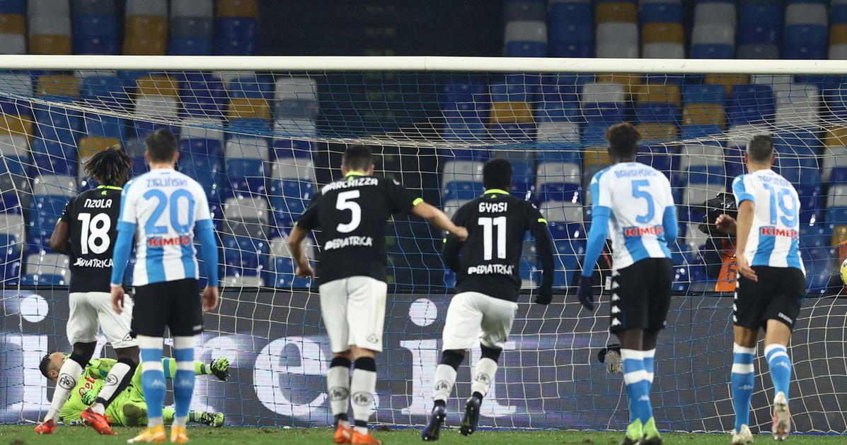 Serie A Nzola e Pobega ribaltano il risultato e a Napoli lo Spezia si porta a casa la vittoria