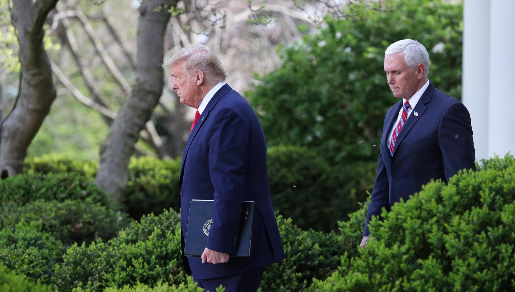 Stati Uniti primo incontro Trump Pence dopo i disordini Avanti fino a fine mandato