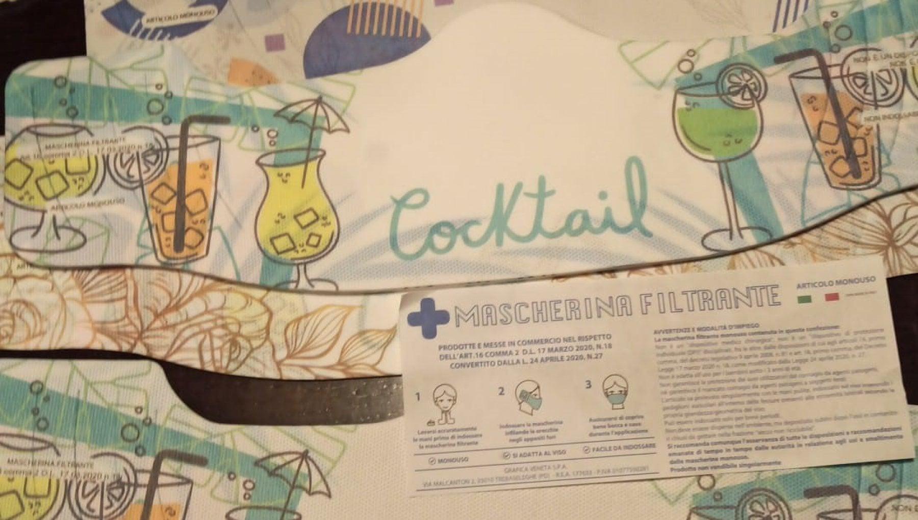 Treviso polemica per le mascherine cocktail distribuite dalla Protezione civile